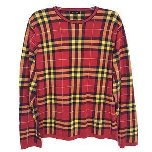 Burberry London Nova check/plaid crew neck sweater